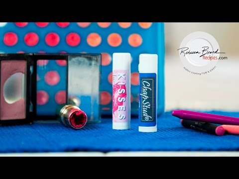 DIY | How to Make Lip Balm Tinted w Leftover Lipstick, Blush, or Crayons | Watermelon Flavored