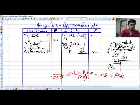 format of profit and loss appropriation account (class 3 ) class 12 fundamentals of partnership
