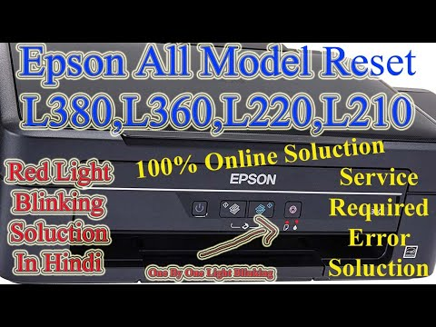 HEAD CLEANING EPSON L210 L220 L360 & REDLIGHT BLINKING