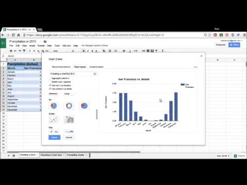 Creating a chart in Google Sheets