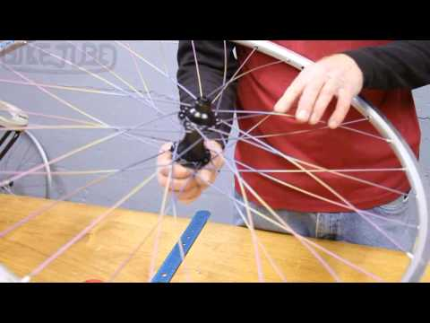 Lacing Non-Drive Side 32 Spoke Rear Wheel | How to Build a Bicycle Wheel