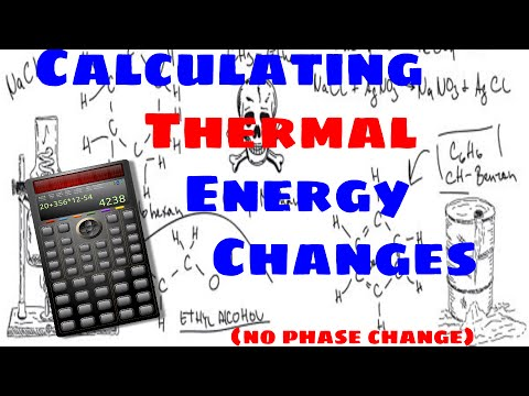 Calculating Thermal Energy Changes Without a Phase Change