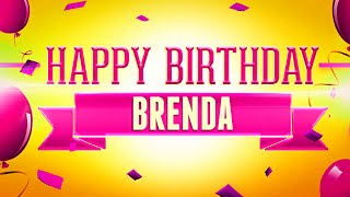 Happy Birthday BRINDA   Your Name Birth Day Animation Video Wishes