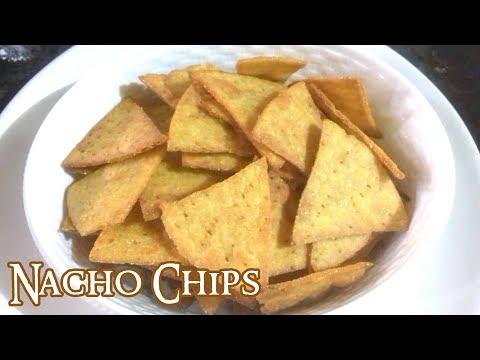 Nacho Chips- Nacho recipe - Homemade Nachos -Corn Tortilla Chips - Makki ke Chips - Cook with Heart