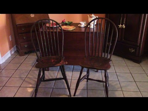 76 Finishing the Windsor chairs with milk paint 2 of 2