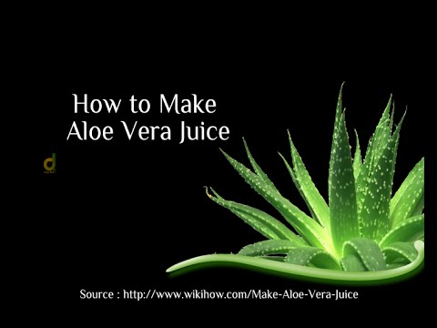How to Make Aloe Vera Juice with citrus juice