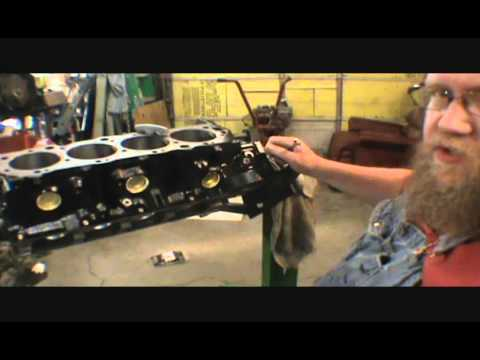 1974 454 chevy part 1 cleaning and painting block and installing cam bearings