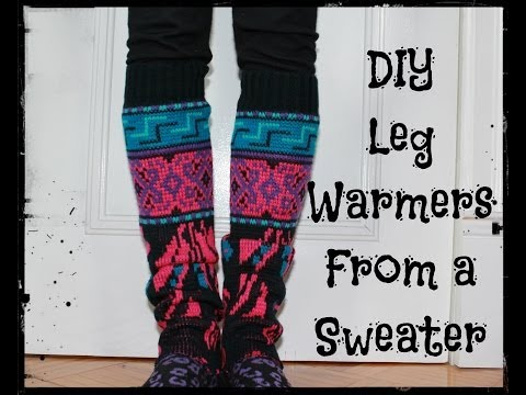 How to Make Leg Warmers From a Sweater: Easy DIY! No Sewing!