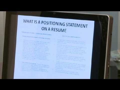 What Is a Positioning Statement for a Resume? : Career Tips