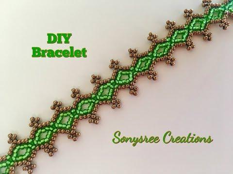 Seed Bead Lacy Bracelet Very Easy Tutorial