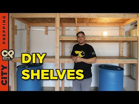 How to build shelves to store water in your garage (DIY)