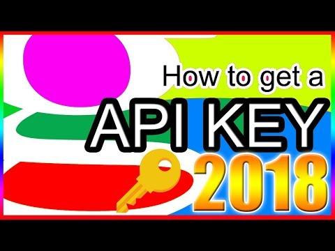 How To Get a Google API key 2018