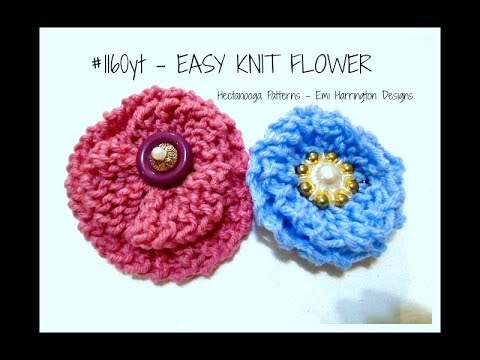 EASY KNITTED FLOWER, knitting for beginners