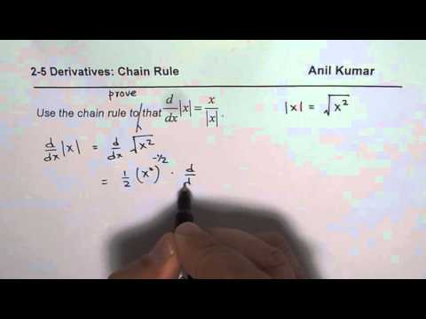 Prove Derivative of Absolute X is Quotient of X and Absolute X MCV4U Calculus