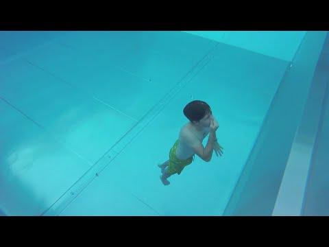 Estuve a 3.80m bajo agua / alberca en seuzach / SUIZA