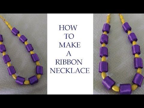 DIY ribbon necklace/ jewellery design ideas k creations - 3