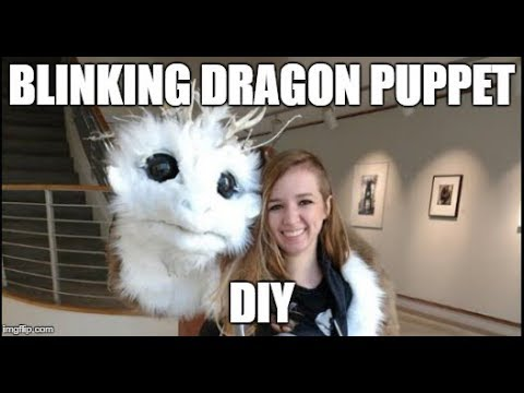 How to make a Blinking Dragon Puppet