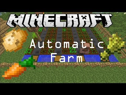 Automatic Wheat/ Potato/ Carrot Farm Minecraft Tutorial [No Planting Needed] (Works in 1.8)