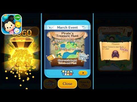 Tsum Tsum March Event 2018 : Pirate's Treasure Hunt - Open Treasure Chest Game!