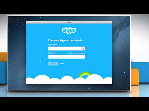 How to merge a Skype® account with a Microsoft® account on Mac® OS X™