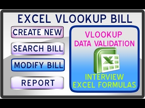 How to create a Billing software using Excel VLookup with Data Validation, Excel Formulas