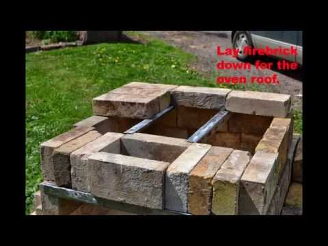 DIY mortarless wood fired brick oven