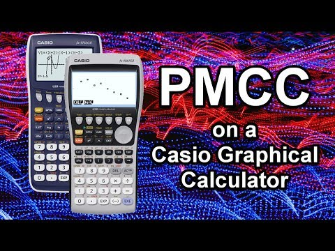 Correlation Coefficient (PMCC) on a Casio Graphical Calculator (Statistics S1/ A Level / IB)