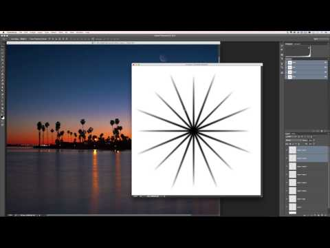 How to Make and Use A Starburst Brush in Photoshop
