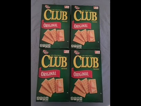 Four boxes of club crackers challenge!
