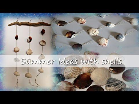 SUMMER IDEAS: tenda di conchiglie // sea shell wind chime - drapery rod hanging