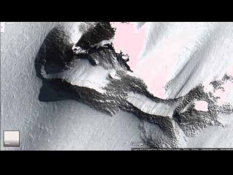 Antarctica, weird google earth screenshots.. Coordinates on pictures!!