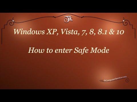 Windows :  How to enter Safe Mode ( Windows XP - Windows 10 )