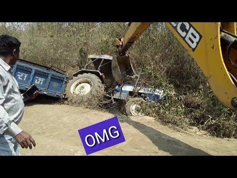 Swaraj Tractor Resuce Operation by JCB