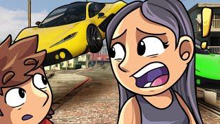 DODGING FLYING CARS!! | GTA 5 | GTA V Online Funny Moments