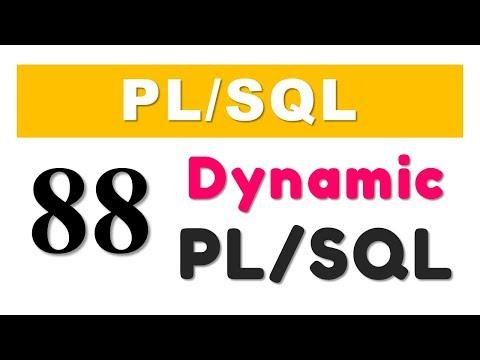 PL/SQL tutorial 88: PL/SQL Block using Execute Immediate of Dynamic SQL by Manish Sharma