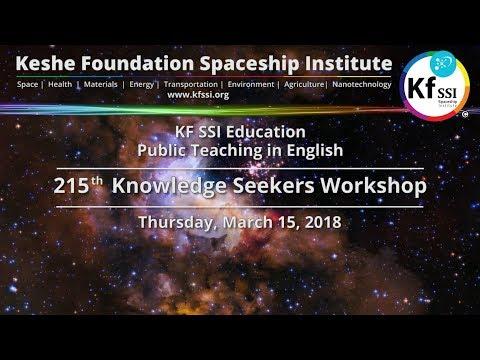 215th Knowledge Seekers Workshop - Mar 15, 2018