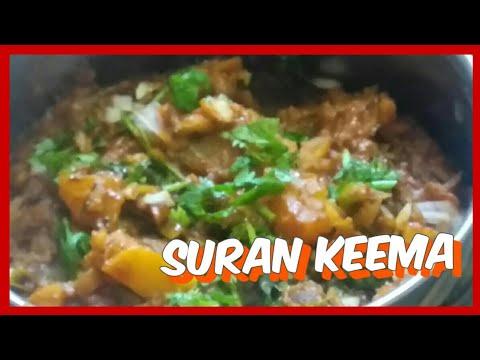 How to make suran bhurji sabji (suran keema sabji)