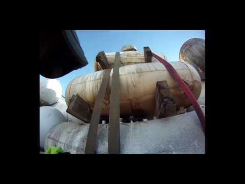 Empty Propane Tanks-Jim The Trucker Video Series