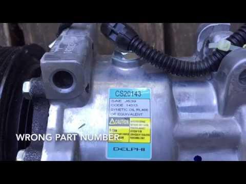 Compressor replacement air conditioning 2001 Dodge Ram Cummins diesel 4x4 2500