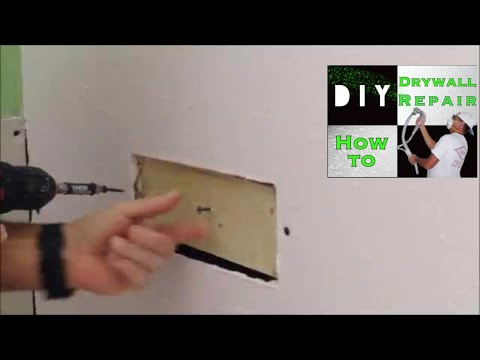 How to add a wood furring strip to attach drywall for a drywall repair
