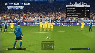 PES 2018 | Real Madrid vs PSG | Free Kick Goal C.Ronaldo | Final UEFA Champions League (UCL)