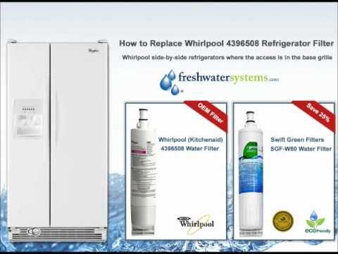 How to Change a Whirlpool 4396508, 4396510, 4396701 Refrigerator Water Filter