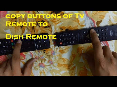 How to sync airtel dish remote with any tv  remote||  copy buttons from tv remote