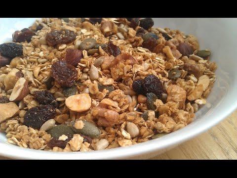 Healthy Recipes - Oatmeal Homemade Granola Recipe
