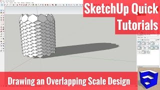 Creating an Overlapping Scale Design in SketchUp - SketchUp Quick Models