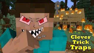 Simple Trick-Traps to kill Pros in Mini-Games & Survival - Minecraft