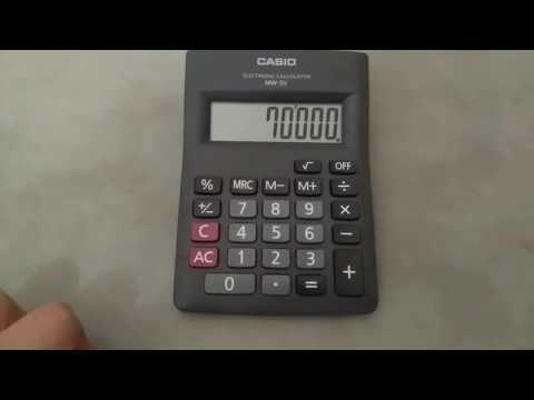 How to calculate percentage on calculator using percentage button in Hindi and Urdu