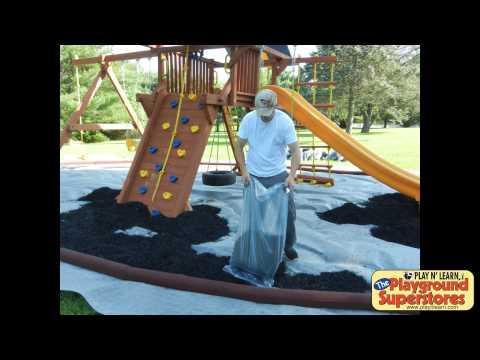How to install a rubber mulch pit