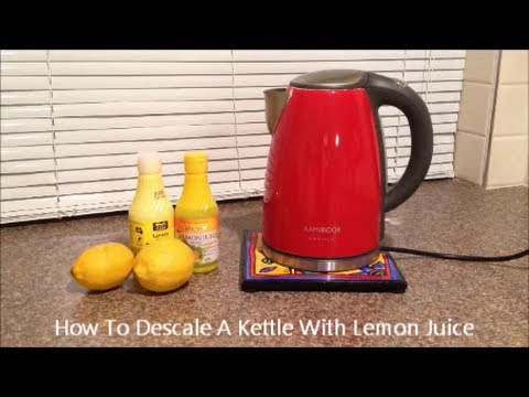 How To Descale A Kettle With Lemon Juice