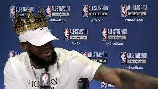 LeBron James Full Press Conference / Feb 17 / 2018 NBA All-Star Media Day